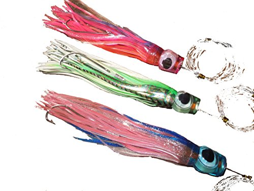3 Pack Fully Rigged Billfish Saltwater Fishing Lures 13 ""
