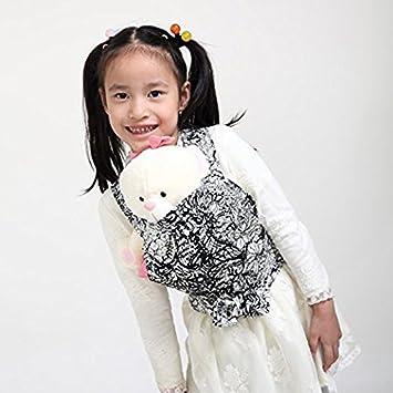 Gagaku poupée Transporteur devant et dos en coton doux pour filles bébé 18 mois