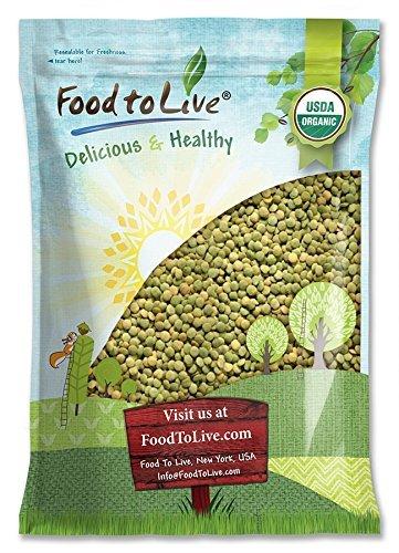 Lentejas verdes Bio by Food to Live (Eco, Ecológico, granos secos enteros,