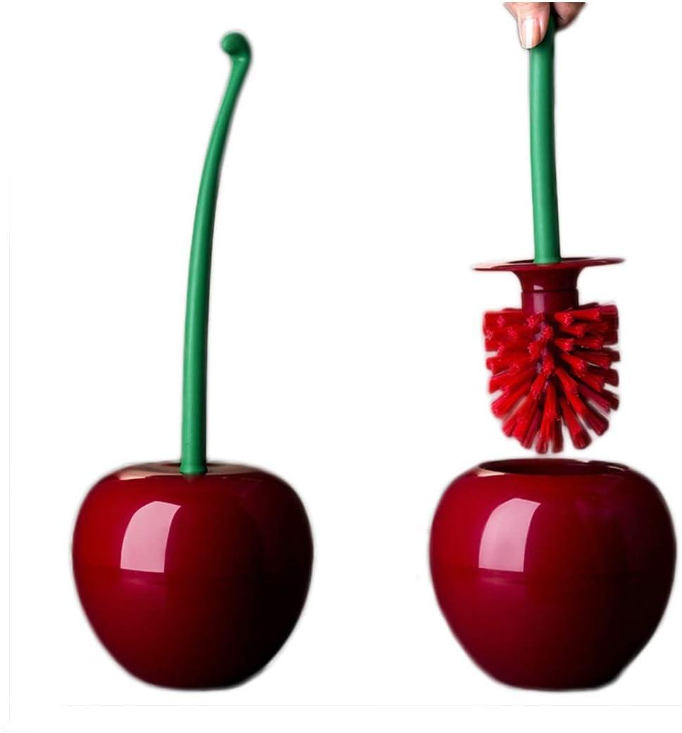 Hoocozi Creative Toilet Brush Cherry Shape Toilet Brush Toilet Brush Set Lavatory Cleaning Tool