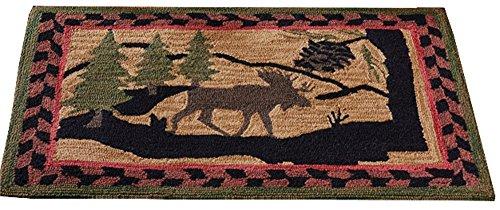 Park Designs Moose Hooked Rug, 24 x 36