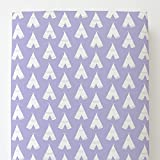 Carousel Designs Lilac and White Teepee Toddler Bed Sheet Fitted