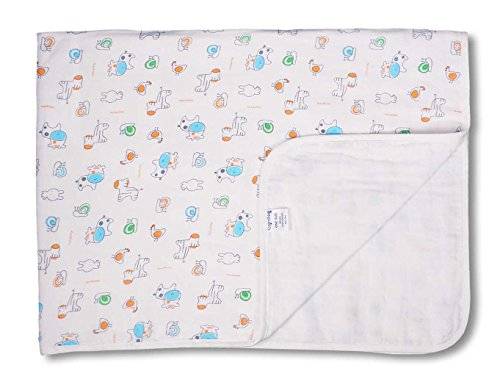 Keepersheep Baby Blanket Swaddle Blanket, Cotton Knee Blanket, Knit Muslin Baby Swaddle Wrap Receiving Blanket (Snail Print) Le Top Receiving Blanket