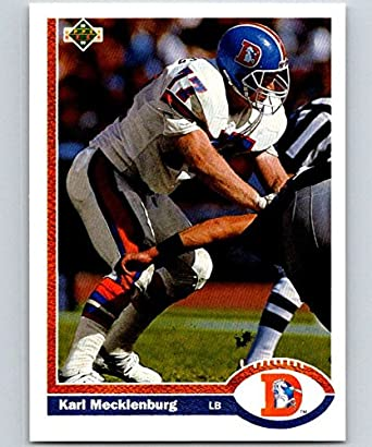 wholesale dealer 8c3a4 dced8 Amazon.com: Football NFL 1991 Upper Deck #105 Karl ...