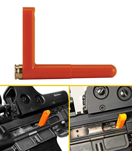 [Ultimate Arms Gear .223 5.56 Caliber Ruger Mini14 Mini-14 Rifle Empty Chamber Ejectable Safety Flag Load Indicator Device Polymer & Brass Bottom Orange Dummy Ammunition Ammo Shell Round with Lanyard String Loop Hole to Attach] (Mini 14 Magazine)