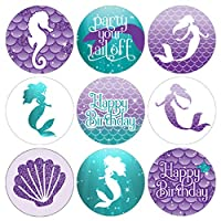 Mermaid Birthday Party Favor Stickers - 180 Labels