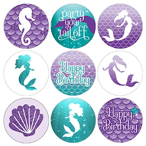 Mermaid Birthday Party Favor Labels | 180