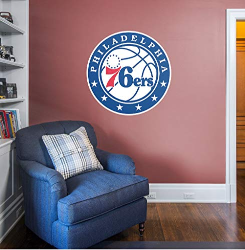 Fathead NBA Philadelphia 76ers Philadelphia 76ers: Logo - Giant Officially Licensed NBA Removable Wall Decal ()