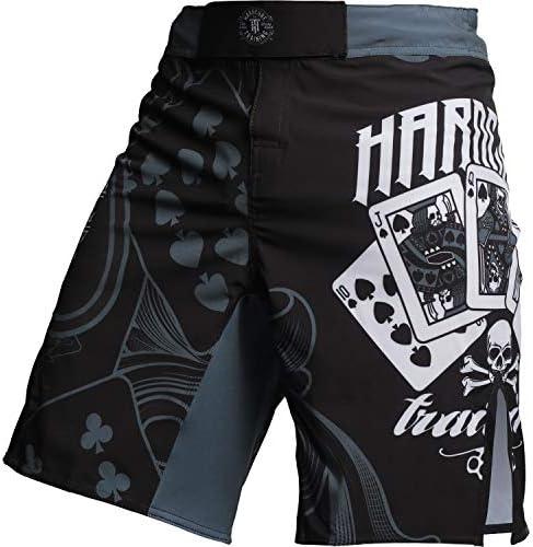 男性格闘用ショートパンツ- ケージ Hardcore Training Shorts The Gambler なし ボクシング BJJ MMA ムエタイ