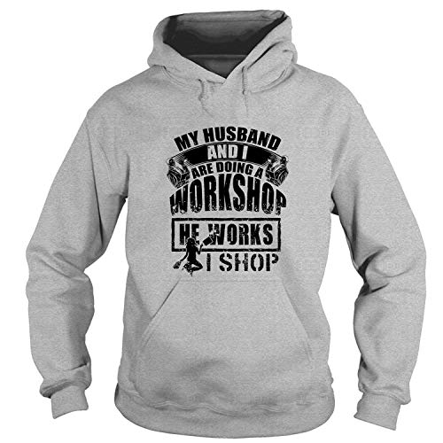 Coolest Workshop Hoodies, My Husband and I are Doing Workshop T Shirt-Hoodie (XXL, Sport Grey)