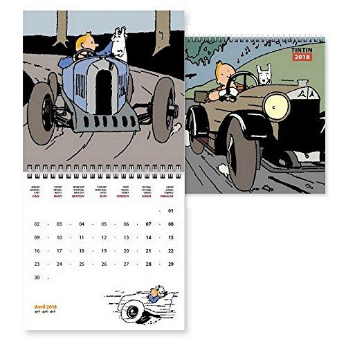 2018 Calendar Tintin in the Land of the Soviets 15x15cm - Tintin Calendar