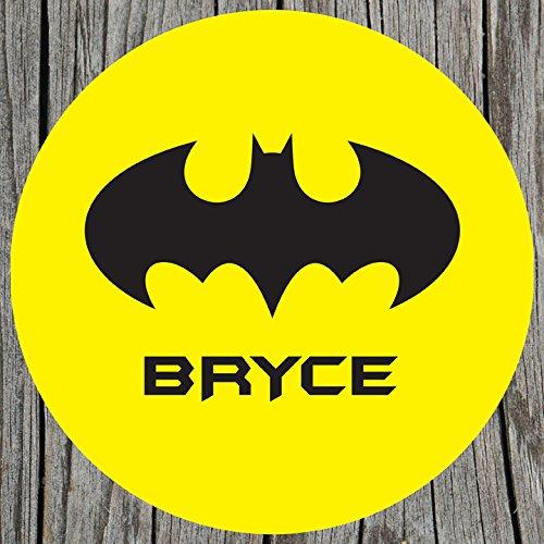 Yellow Bat Signal Personalized Melamine Plate