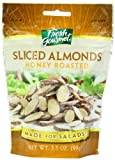 Fresh gourmet Sliced Almonds, Honey Roasted, 3.5 Ounce