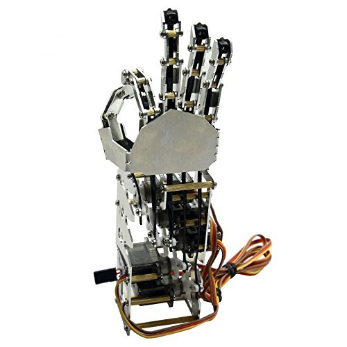 5DOF Humanoid Five Fingers Metal Manipulator Arm Left+Right Hand w//Servos