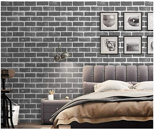 FSLUCKY Halloween Wallpaper self-Adhesive Student Rental Room Renovation Bedroom Decoration Wall Sticker Nostalgic Brick Pattern (0.6mX10m) -