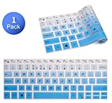 DELL XPS 13 Keyboard Cover, Premium Keyboard Skin Protector for 2018 Newest DELL XPS 13 9370 & 2017 Release DELL XPS 13 9365 13.3' 2 in 1 Ultrabook Keyboard Protective Skin, Gradual Blue