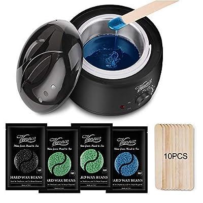 Waxing Kit for Women Men,Vennco Wax Warmer Waxing kit