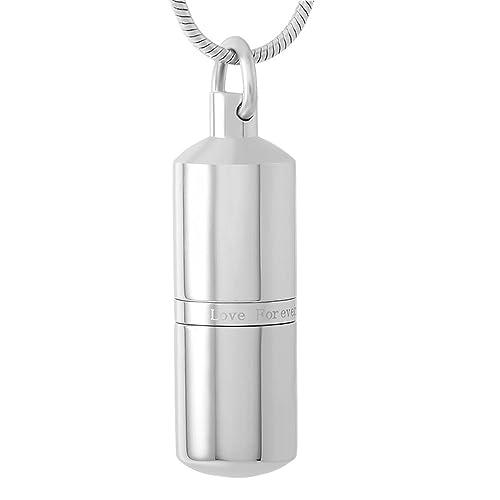 Amazon.com: Píldora Caso cremación joyas acero inoxidable ...