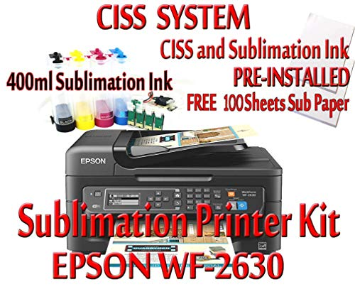 Sublimation Printer Bundle,CISS Kit,100 Sheets Sublimation Paper