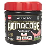 ALLMAX Nutrition AMINOCORE BCAA 8G BCAAs 100 Pure 45 30 25 Ratio Gluten Free Watermelon Candy 1 02 lb 462 g