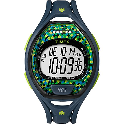 Timex IRONMAN® Sleek 50 Full Size Watch - Blue/Lime by Timex