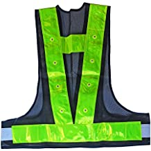 iHuniu LED Reflective Vest Safety Outdoor Running High Visibility Reflector Clothing for Men, Women Best for Jogging, Biking, Walking, Motorcycle