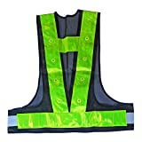 16 LED Light Up Safety Reflective Vest Running High Visibility Reflector Clothing