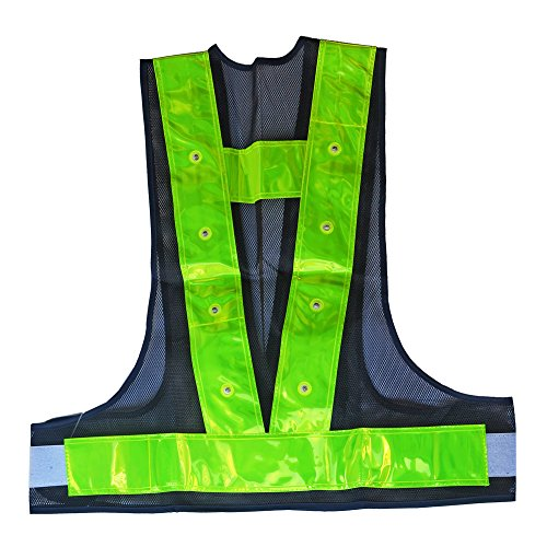 IHUNIU, INC. Reflective 16 LED Light Light Safety Vest Running High Visibility Reflector Clothing for Men, Women Best for Jogging, Biking, Walking, Motorcycle
