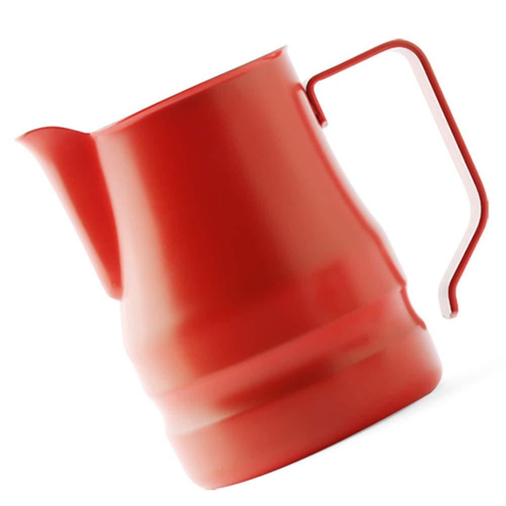 Ilsa Evolution Milk Frothing Pitcher Professional Latte Art Milk Steaming Jug Stainless Steel, Red - 350ml / 12oz by Ilsa (Image #2)