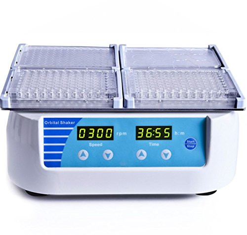 MIX-1500 Microplate Shaker, Speed 300-1500rpm with 4 standard micro plates by Hangzhou Miu Instruments CO., LTD