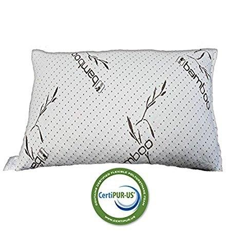 Premium Hypoallergenic Shredded Memory Foam Pillow For Toddler and Kids Bed Sleeping Pillow with Micro-Vented Cool Comfort Pillow Cover Fully Machine Washable IZO All Supply