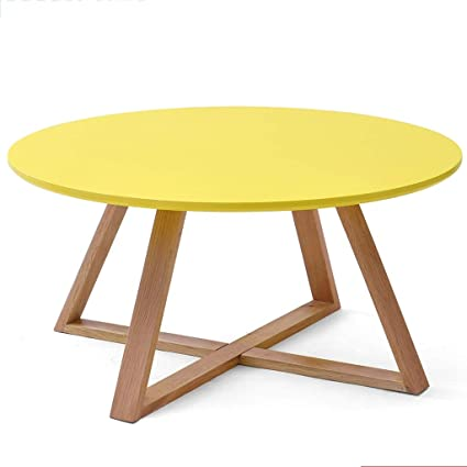 Amazon.com: Coffee Tables Solid Wood Round Creative Small ...