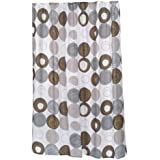 carnation home fashions 100percent polyester fabric print 70 by 84 inch shower curtain xlong madison multi earthtone colors