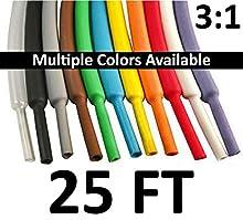 "Electriduct 1/8"" Heat Shrink Tubing 3:1 Ratio Shrinkable Tube Cable Sleeve - 25 Feet (Black)"