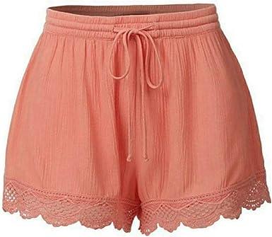 Shorts Mujer Verano Logobeing Tallas Grandes Mujer Pantalones Vestir Fiesta Cintura Alta Shorts M Orange Amazon Es Ropa Y Accesorios