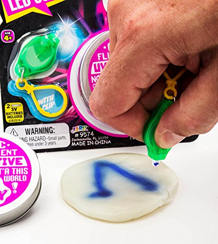 UV Led Lab Putty Scribbler & Bouncing (Pack of 12) by JA-RU | Reactive Sensitive Putty Painting with Light | Item #9574-12 by JaRu (Image #1)