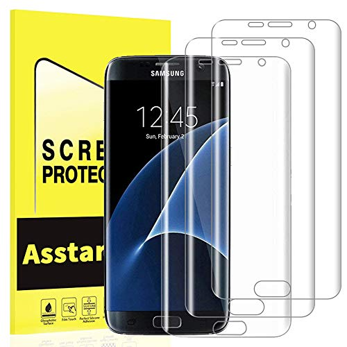 Samsung Galaxy S7 Edge Screen Protector  Asstar  Full Screen Coverage Protector     3 Pack  Premium Ultra Slim High Definition Phone Film Only For Samsung Galaxy S7 Edge  Screen Film