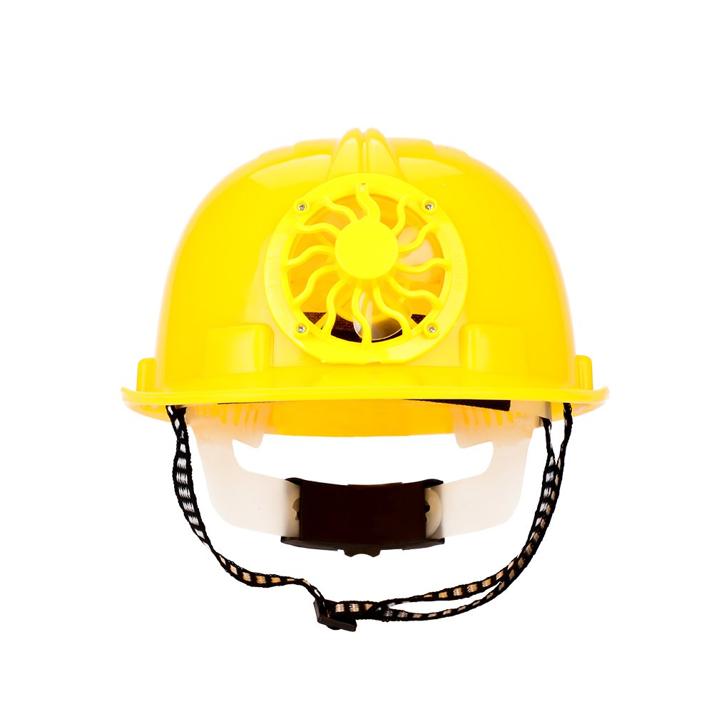 Cool Construction Hard Hat Adjustbale Safety Helmet with Solar Powered Cooling Fan Hilitand