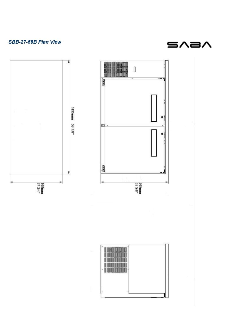 UBB-2 Narrow Solid Door Back Bar Cooler Stainless Steel Top and LED Lighting
