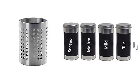 Ikea ordning porta utensili da cucina, in acciaio inox 18 x 12 x 12 ...