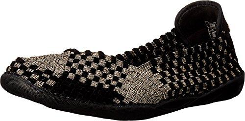 Bernie Mev Women's Braided Catwalk Bronze/black Velvet Flats - 7.5 B(M) US