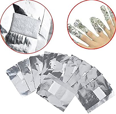 50 hojas de aluminio con algodón quitaesmalte, quitar el gel ...