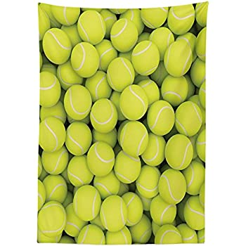 Amazon ambesonne sports decor tablecloth by heap of tennis sports decor tablecloth heap of tennis balls hobby happiness leisure competitive match lifestyle dining room kitchen rectangular table cover stopboris Image collections