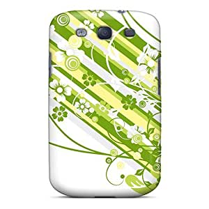 Durable Case For The Galaxy S3- Eco-friendly Retail Packaging(green Vector Design)