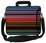 Designer Sleeves Retro Stripes Executive Case for 15-Inch Laptop, Red (15ES-RS)
