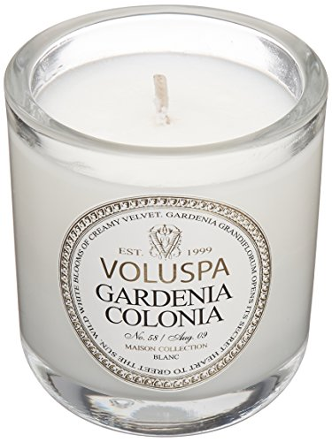 Voluspa Classic Boxed Votive Candle, Gardenia Colonia, 3 Ounce