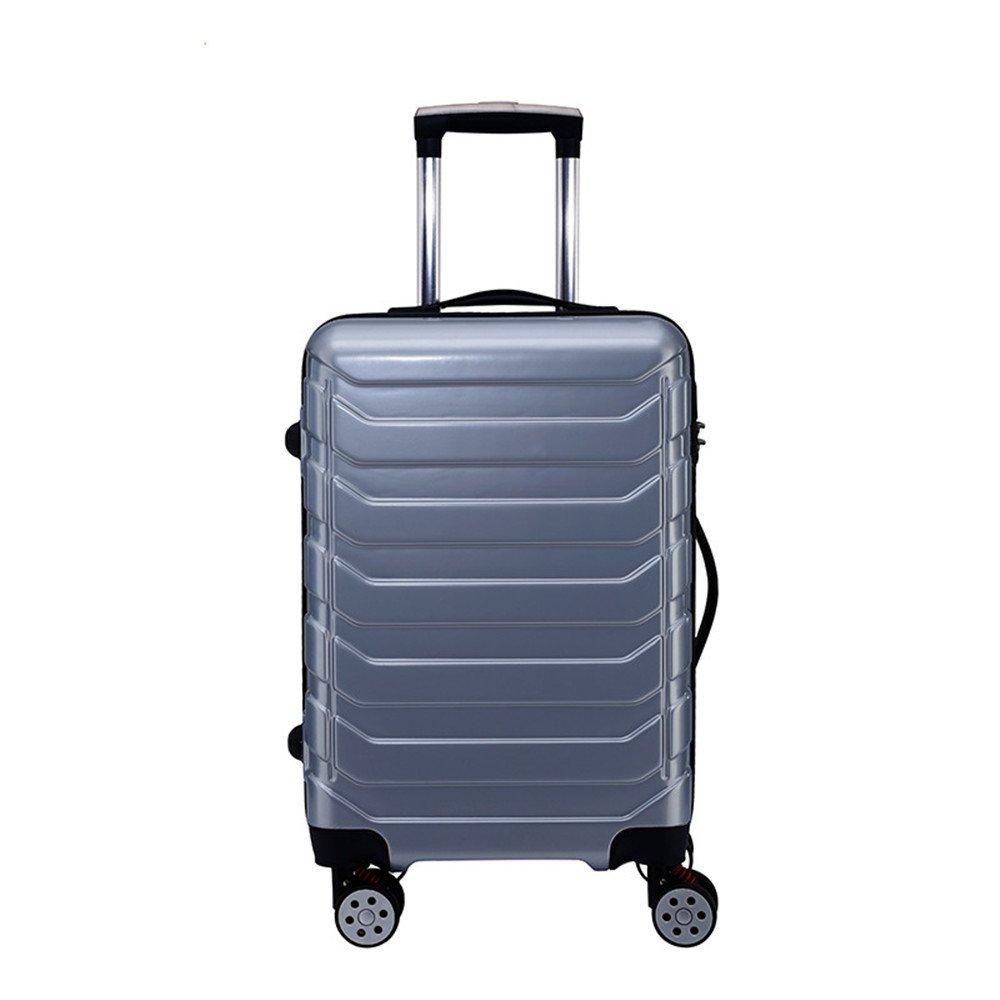 スーツケース アルミ合金ユニバーサルホイールトロリーケースサイレントホイールパスワードスーツケース搭乗バッグ20/24インチ出張 軽量 静音 TSAロック搭載 ファスナータイプ 機内持ち込みスーツケース (サイズ : 24) B07SKHRQXF  24