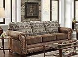 American Furniture Classics Deer Teal Lodge Tapestry Sofa Sleeper, Deer Teal Tapestry