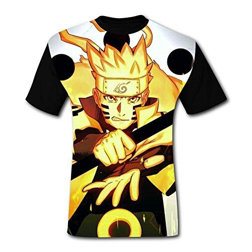 HeroTees Awesome_Naruto_Uzumaki Mens T-Shirts 3D Galaxy Printed Tee Shirt Large