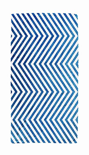 Shorping Bath Towels for Travel,Watercolor Dark Blue Stripes Background Chevron Abstract with on White 30x60 Inch Large Pool Towels for Body Bath,Swimming,Travel,Camping,Sport